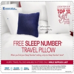 Travel Pillow–free Travel Pillow From Sleep Number