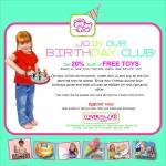 Free Birthday Club At Kids Talk