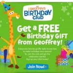 Toys R Us Birthday Club