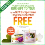 Get A Free Escape Home Fragrance Collection Candle At Bath And Body