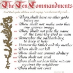 Printable Calendar – Ten Commandments