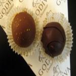 Godiva truffle sample