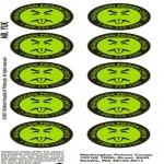 Poison Help Stickers.