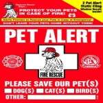 Free Pet Alert Window Decal