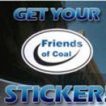 Free Friends Of Coal Sticker