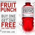 Bogo 32oz Powerade Zero Coupon
