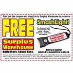 Get A Free Led Flashlight At Surplus Warehouse