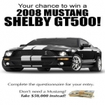 Win a Mustang Shelby GT500