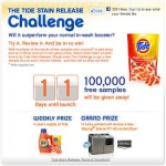 Free Sample Of Tide Stain Release Via Facebook