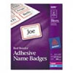 Free Avery Flexible Adhesive Name Badges.