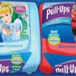 Free Sample Of Pull-ups Flushable Moist Wipes