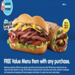 Free Value Menu Item  Arbys