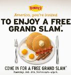 Free Breakfast at Dennys – Grand Slam