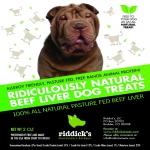 Riddick's Ridiculously Natural Dog Treats Sample.