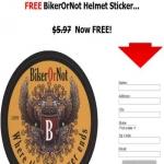 Free Bikerornot Helmet Sticker