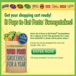 It Pays To Eat Pasta Sweepstakes