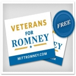 Veterans For Romney Sticker