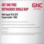 Single Metragenix Bar With Coupon At Local Gnc