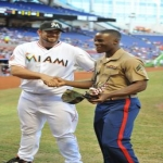 Military Monday At Marlins Stadium