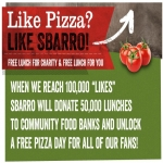 Pizza Day At Sbarro When They Reach 100,000 Fans