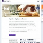 The Fedex Small Business Saturday Gift Card Sweepstakes
