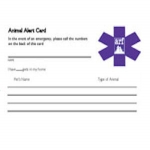 Pet Emergency Decal And Alert Card