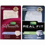 Depend Real Fit For Men Or Silhouette For Women Briefs