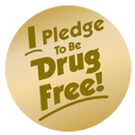 i Pledge To Be Drug Sticker