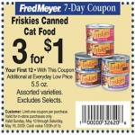 Friskies Cat Food Coupon