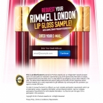 Free* sample of Rimmel London Lip Gloss