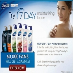 Dial 7 Day Moisturizing Lotion Giveaway