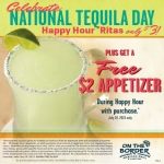 Free Appetizer from On The Boarder Happy Hour