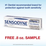 Sample Sensodyne Extra Whitening Toothpaste, 0.8 Oz.