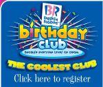 Baskin Robbins Birthday Club