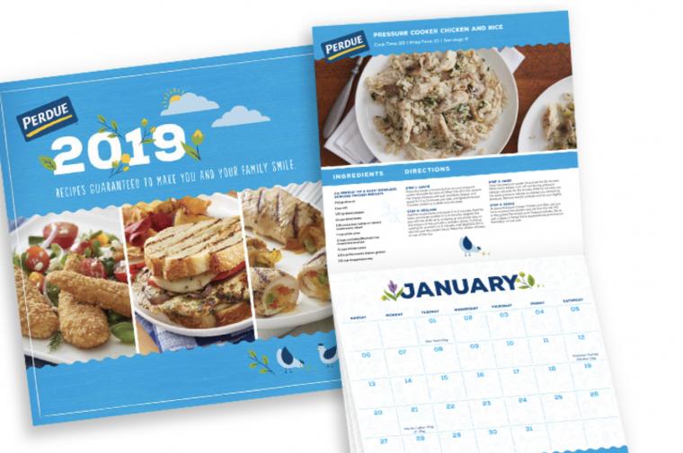 2019 Perdue Recipe Calendar